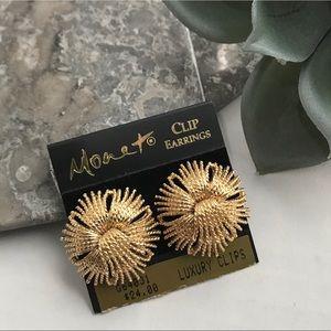 Monet Gold Cordelia Twist Tassel Clip On Earrings